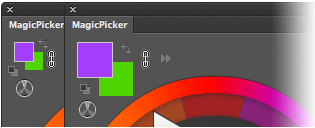MagicPicker Color Wheel with big swatches