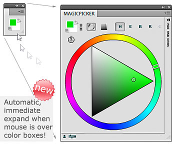 Photoshop Munsell Wheel color picker.