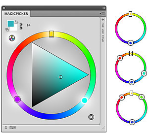 MagicPicker panel Photoshop Color Wheel with Color Schemes