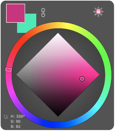 MagicPicker color wheel in HUD mode / Adobe Photoshop