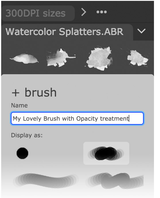 Load existing brushes or create new