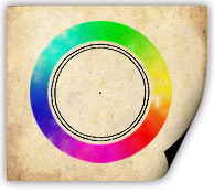 An example color wheel made in Photoshop