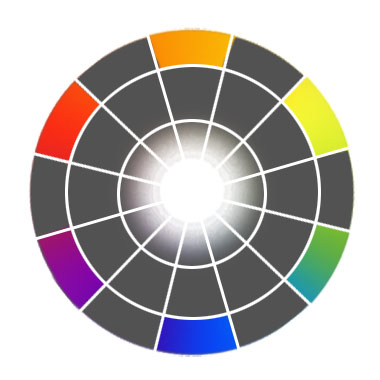Secondary colors on color wheel
