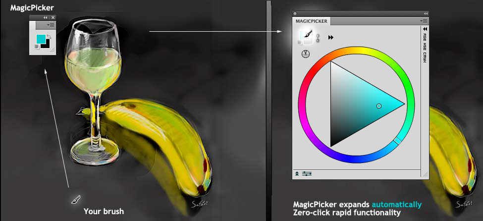 New features of MagicPicker color panel plugin for Photoshop CS3, CS4, CS5, CS6