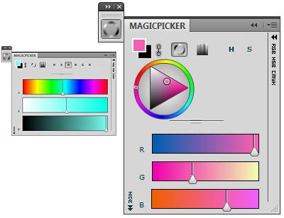 MagicPicker panel Color Wheel color picker example