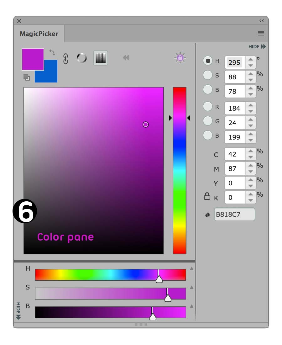 MagicPicker color pane area