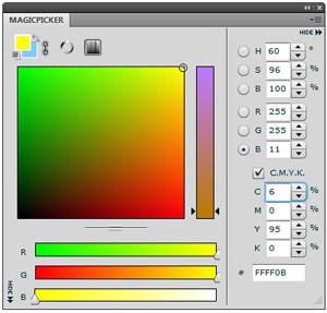 MagicPicker color pane screenshot