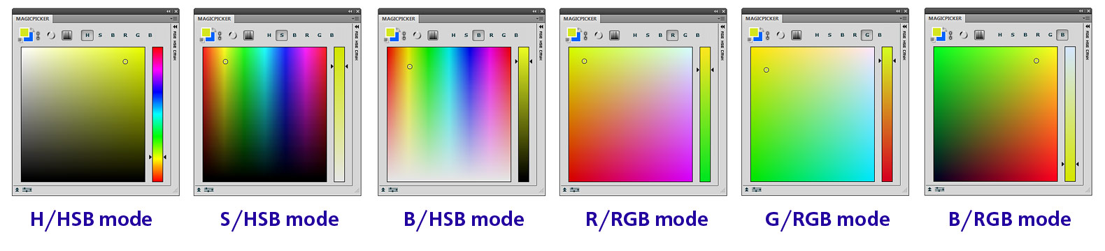MagicPicker color pane modes