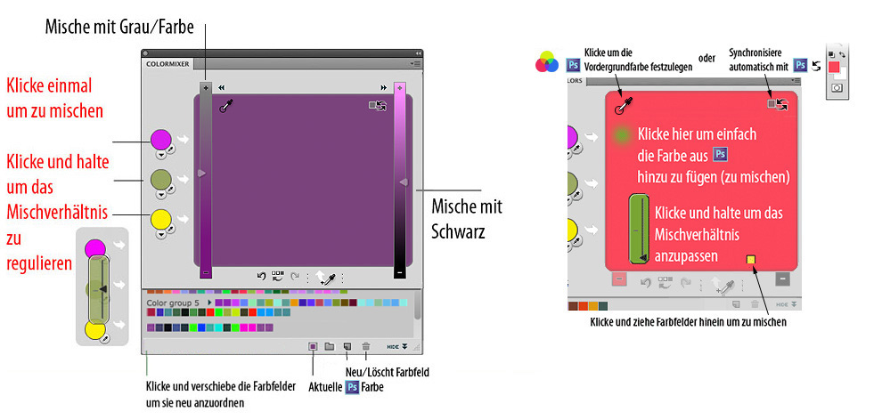 Features von Photoshop MixColors
