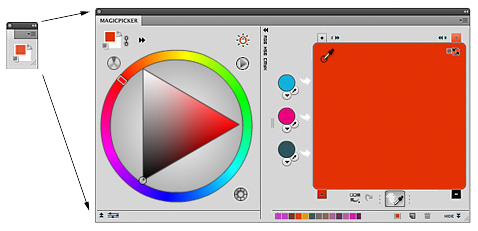 Color wheel and color mixer in one Photoshop panel