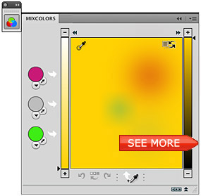 MixColors Color Mixer panel for Adobe Photoshop CS6, CS5, CS4, CS3