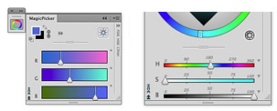 MagicPicker panel Color Wheel color picker example 4