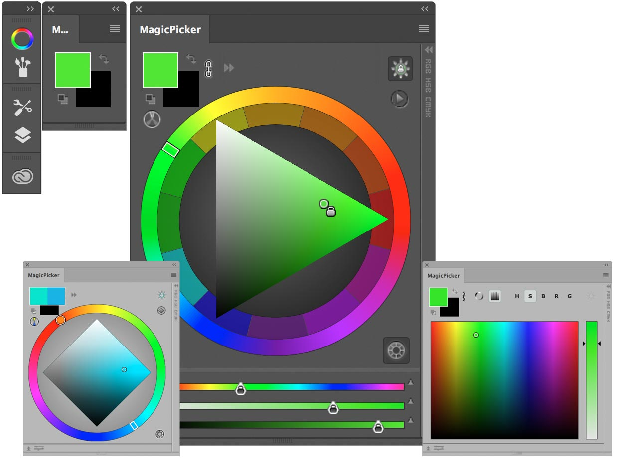 how to add color wheel to photoshop