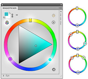 MagicPicker panel Illustrator & Photoshop Color Wheel with Color Schemes