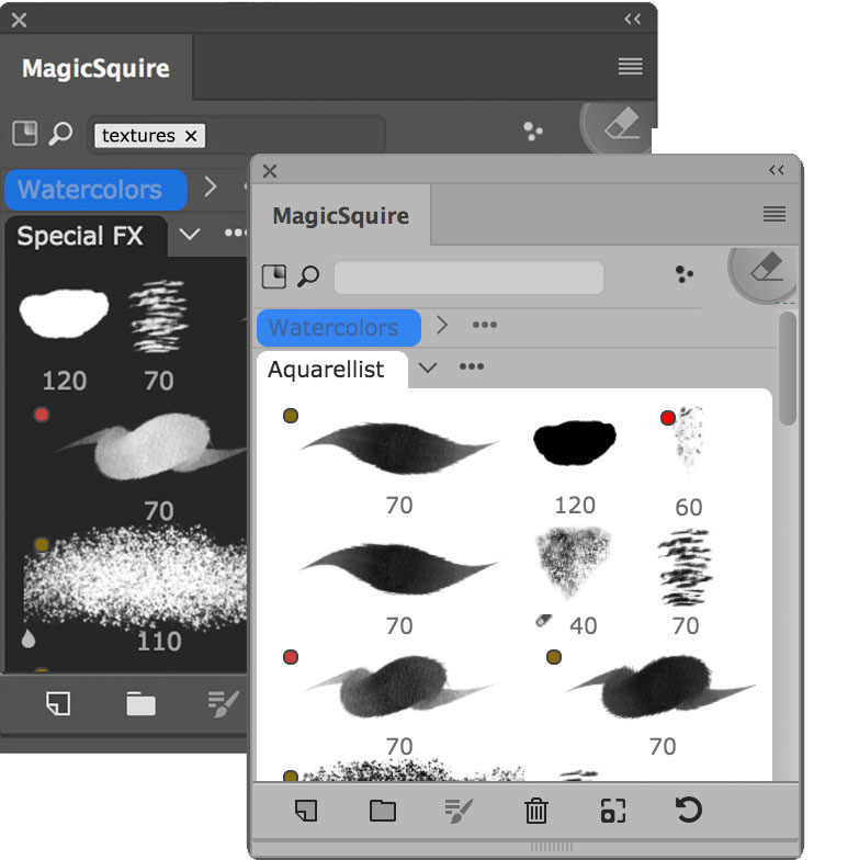 MagicSquire 4 - brush management HUD in Adobe Photoshop