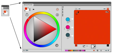 MixColors and MagicPicker as the single panel - use in Compact Mode